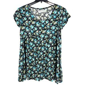 American Apparel Oversized Floral Tunic
